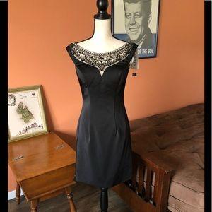 SHORTS MON CHERI beaded black formal dress